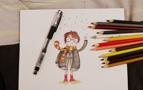 Halloween At Hogwarts Phoenix Symphony 2015 by Harry Potter Dibujo Caricatura Lápices De Colores Harry