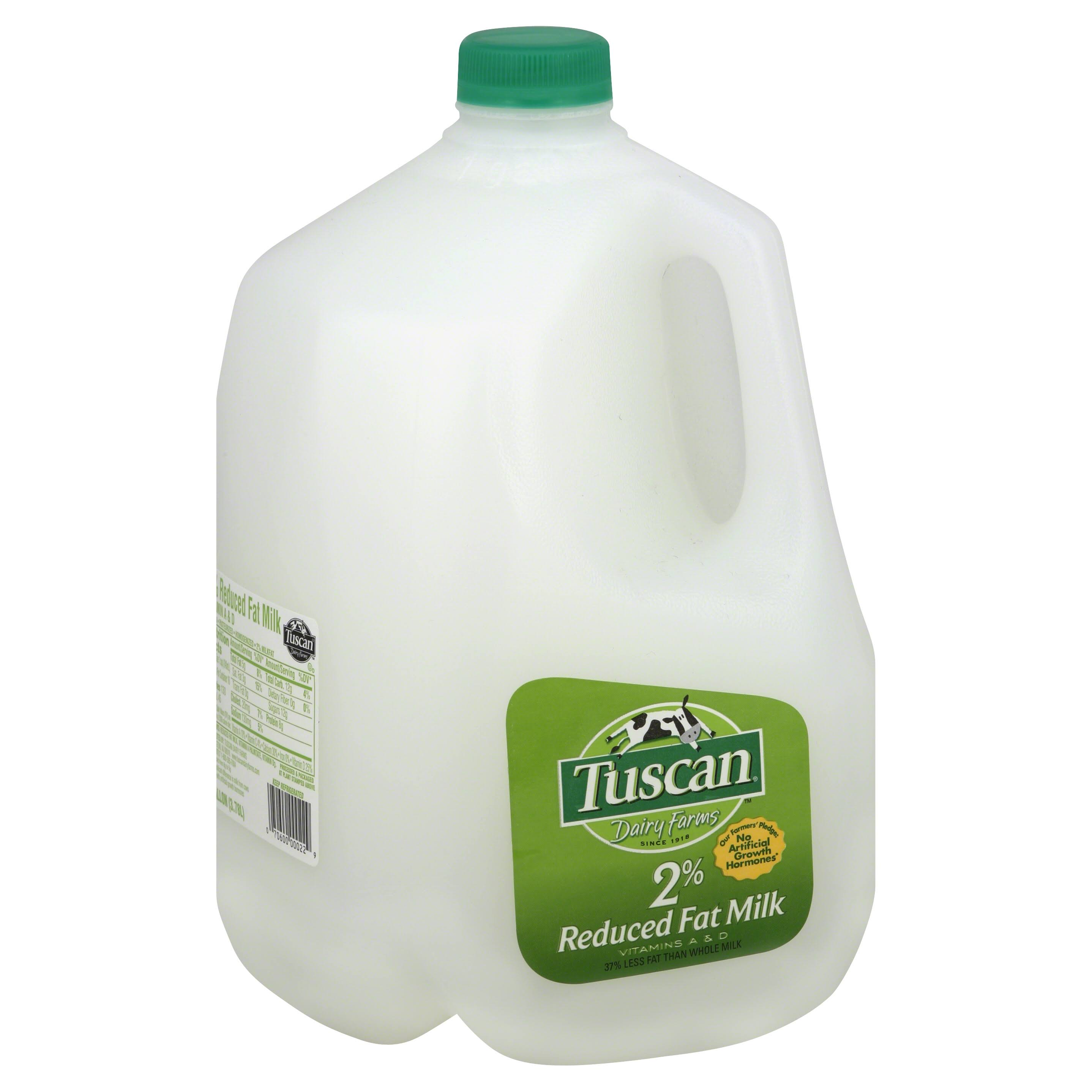 Tuscan Milk, Reduced Fat, 2% Milkfat - 1 gl (3.78 lt)