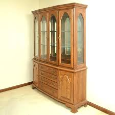 Oak China Cabinets Hutches Cabinet Value Marvelous Lighted