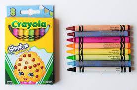 Crayola Bathtub Crayons Walmart by 8 Count Crayola Shopkins Themed Crayons What U0027s Inside The Box