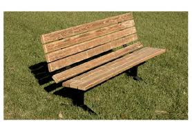 All Pressure Treated Wood & Steel Outdoor Bench By Ultraplay