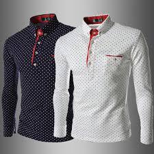 1080 New 2015 Korea Slim MenS Shirts Casual Long Sleeve Dot Mens Fashion White Buy T Shirt Fun From Facai2011 195