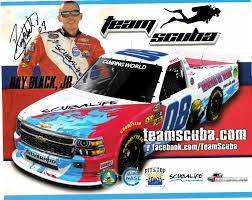 100 Nascar Camping World Truck Ray Black Jr Autographed Team Scuba NASCAR