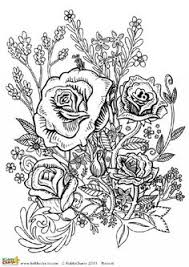 Four Free Flower Coloring Pages For Adults