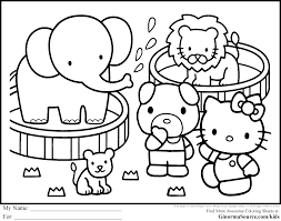 Hello Kitty Coloring Pages Free Archives And And Spring