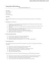 Entry Level Police Officer Resume Examples Samples Patrol Fetching