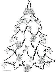 Template Coloring Christmas Tree Cutouts Printable Stencils