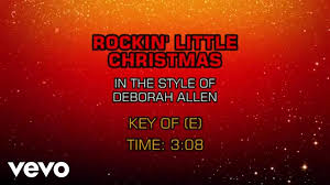 Rockin Around The Christmas Tree Karaoke Miley by Deborah Allen Rockin U0027 Little Christmas Karaoke Youtube