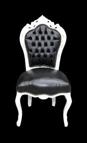 casa padrino barock esszimmer stuhl schwarz weiß lederoptik möbel antik stil