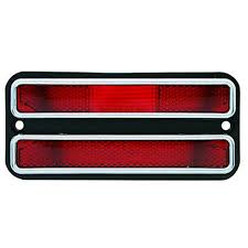 100 72 Chevy Trucks 68 GMC Truck Rear Red Side Marker Light Lamp W Chrome Trim