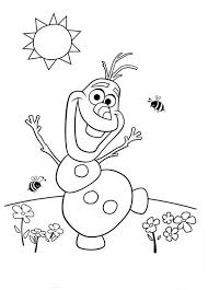 Frozen Olaf Character Coloring Pages