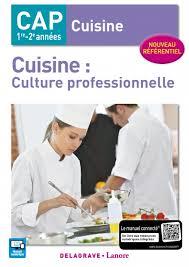 livre cap cuisine cap cuisine éditions delagrave