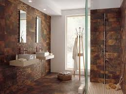 unique brown tile bathroom back to agate lapis and quartz mineral