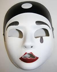 Halloween Half Mask Makeup by Pierrot Half Mask
