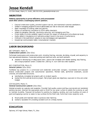Pleasing General Labor Resume Summary With Additional Examples 24 Cover Letter Template For Sample