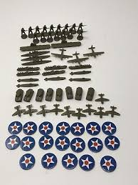Vtg 1984 Axis Allies Board Game Parts Piece United States Army Military Lot