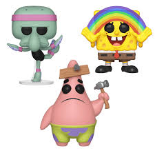 Funko POP! Animation Sponge Bob Square Pants Collectors Set - Patrick Star,  Squidward Tentacles Ballerina, Spongebob Rainbow Spongebob Square Pants Camper Van 72 In X 126 Spongebob Pants Xl Chair Rail 7panel Prepasted Wall Mural Diy Pores Table Covers Nickelodeon Squarepants Toddler Bean Bag Chairs In The Krusty Krab Oleh Annisa 2019 House Bezaubernd Wooden Kids Table And Chairs Rentals Lif Childs Characters Spongebobs Room Paw Patrol Alex Toys Mrs Puffs Boating School Toy Alexbrandscom