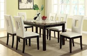 Cheap Dining Tables With Chairs Room Marble Top Table Set White Furniture