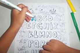 Poster Géant à Colorier Pour Enfant Alphabet Animaux