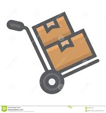 Hand Truck With Boxes Filled Outline Icon Stock Vector ...