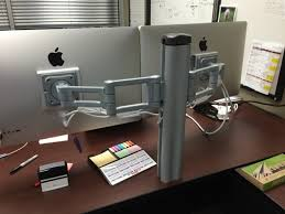 nice compact desk setup for imac and ipad great use of space