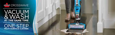 Bissell Hardwood Floor Cleaners by Bissell Crosswave All In One Multi Surface Wet Dry Vac 1785w