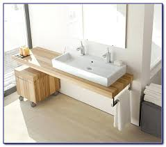 trough sink with two faucet meetly co