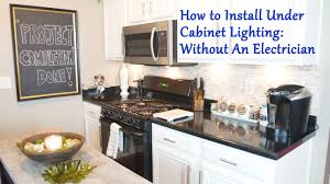 Hardwire Under Cabinet Lighting Video by How To Install Under Cabinet Lighting Without An Electrician