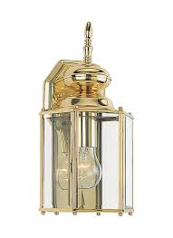 8509 02 one light outdoor wall lantern polished brass