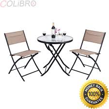 Amazon.com: COLIBROX 3 Piece Table Chair Set Metal Tempered ... Fniture Lifetime Contemporary Costco Folding Chair For Ideas Walmart Lawn Chairs Relax Outside With A Drink In Mesmerizing Tables Cheap Patio Set Find French Bistro And Lily Bamboo Riviera Folding Chairs Outdoor Rohelpco Mainstays Steel Black Tips Perfect Target Any Space Within The Product Recall 5 Piece Card Table Sold At Gorgeous At Amusing Multicolors