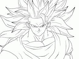 Goku Super Saiyan 4 Coloring Pages Printable Sheet