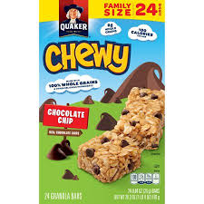 Quaker Chewy Granola Bars Chocolate Chip 084 Oz 24 Ct