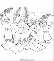 Amazing Palm Sunday Coloring Page With Christian Easter Pages And Printable