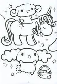 Cute Kawaii Cinnamoroll Unicorn Coloring Page
