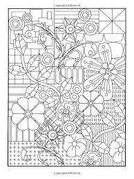 Floral Design Colouring Garden Party Flower Designs To Color Dover