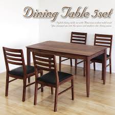 Waki Int Dining Set 4 Person Table For People Hung On