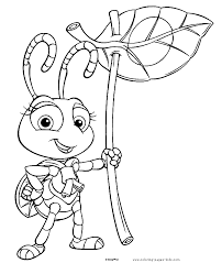 Atta A Bugs Life Coloring Disney Pages Color Plate Sheetprintable