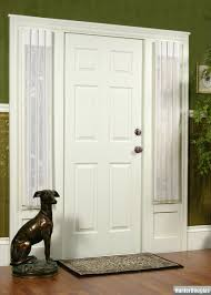 front door sidelight window curtains curtain rods and window
