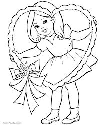 Valentines Day Coloring Pages Make Beautiful Gifts For Children They Include Small Cupids Hearts Roses And Cute Cartoon Characters Apart From Making A