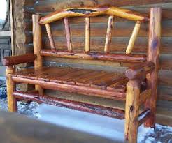 Rustic Benches And Stools By Cow Creek Cedar Of Wall SD