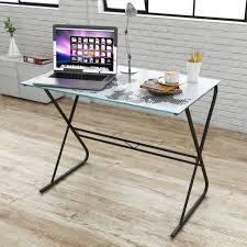 bureau en verre bureau table basse de motif de carte du monde avec tablette en verre