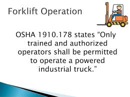 Basic Forklift Operation - Ppt Download Forklift Safety For Ramps Slopes And Inclines Prolift Egiona Otic Its The Pits Employer Guide To Liability In Workplace The Osha Standard Powered Industrial Truck Traing Oshas Top 10 Most Cited Vlations Fiscal Year 2015 December All Categories Stac Card Drumbeat Ignored As Often Heard 1910178 Truck Checklist Blog Lift Capacity Calculator Regional Notice Osha Powered Industrial Cerfication Unique 8 Best Forklift Onsite Traing Only 89 Per Person