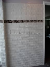 subway tile with square glass mosaic accent 1920s bungalow