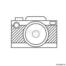 Retro Camera Vector Outline Icon