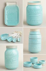 Ceramic Mason Jar Kitchen Utensils