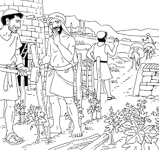 Parable Of The Tenants Coloring Page 1