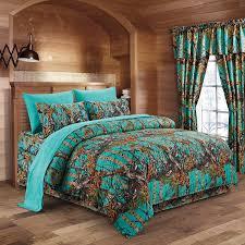 Amazon The Woods Teal Camouflage Twin 5pc Premium Luxury