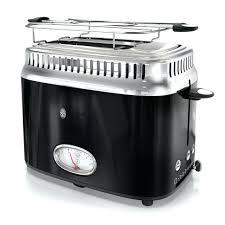 Retro Toaster 2 Slice Style Black Stainless Steel Blue Breakfast Center Oven