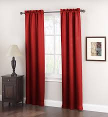 logan room darkening brick panel pair 2 brick red curtains from kmart