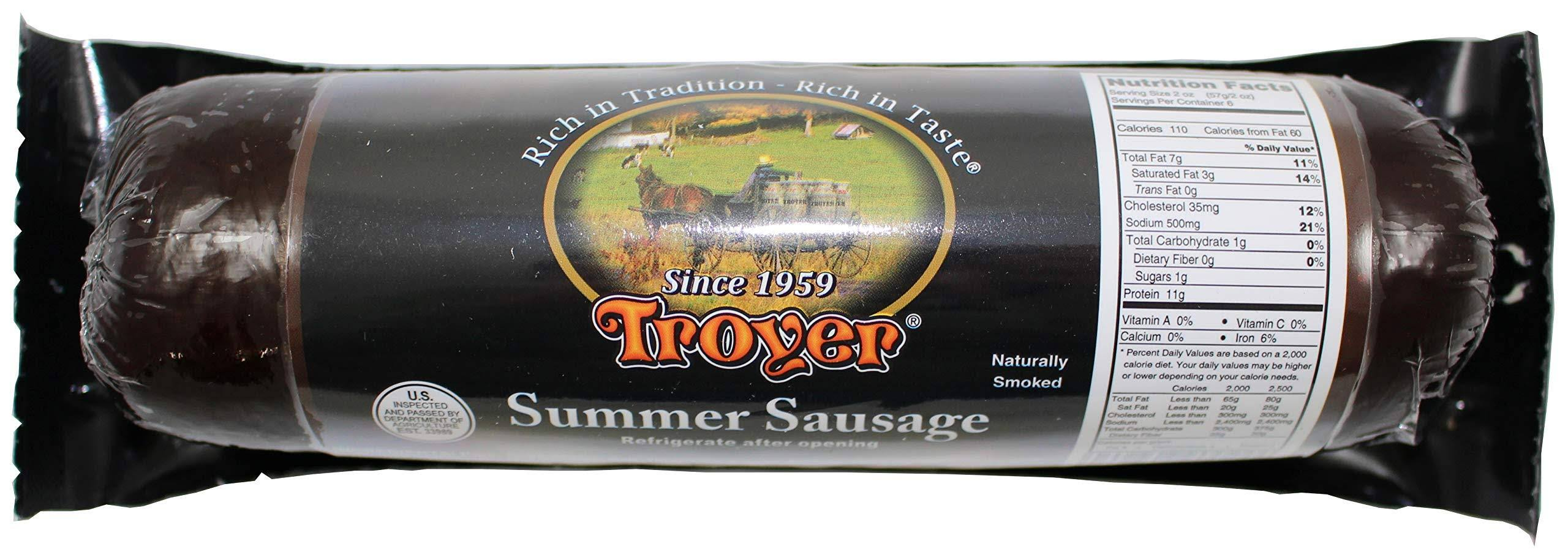 Troyer Summer Sausage Naturally Smoked 12 oz